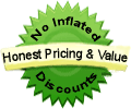 Nature's Wealth Vitamins Health Food Store Honest Pricing & Value Logo